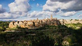 Ancient Sorano town. Italy Stock Photos
