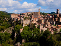 Ancient Sorano town. Italy. Ancient Sorano town in Tuscany. Italy Royalty Free Stock Images