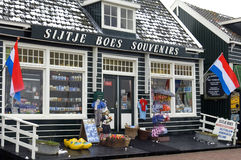 Ancient souvenir shop in holiday resort Marken Royalty Free Stock Photography