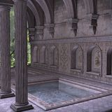 Ancient Spa. 3 D Render of an Ancient Spa Stock Images