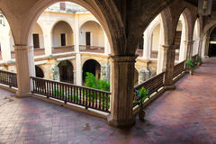 Ancient spanish convent in Old Havana Royalty Free Stock Image