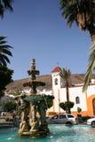 Ancient spanish Plaza Stock Image