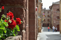 The ancient Spanish red town Prades Royalty Free Stock Image