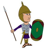 Ancient spanish soldier cartoon Royalty Free Stock Images