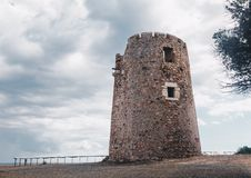 Ancient spanish tower fortification in Sardinia (santa margherita). Ancient spanish tower fortification in Sardinia santa margherita 1 royalty free stock photography