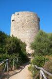 Ancient Spanish tower at Vignola Mare Stock Photos