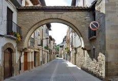 Ancient Spanish town Zangoza in Navarra Royalty Free Stock Image
