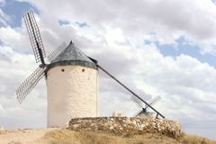 Ancient Spanish mill as an alternative energy source, Consuegra, Spain Stock Photography