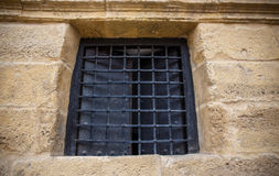 Ancient Spanish window. Royalty Free Stock Image