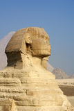 Ancient sphinx and Pyramid in Egypt Stock Photo