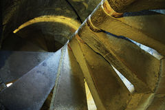 Ancient spiral stairs Royalty Free Stock Images
