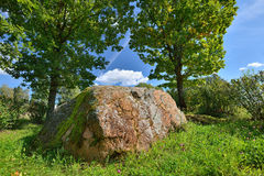 An ancient spiritual stone of Baltic tribes Royalty Free Stock Photo