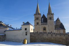 Ancient Spisska Kapitula and St. Martin`s Cathedral. Slovakia stock photography