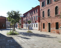 ancient square called Campo in the Murano Island in Italy Royalty Free Stock Images