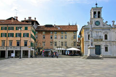 Ancient square in italian city Royalty Free Stock Photography