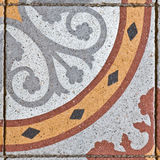 Ancient square paving tile Royalty Free Stock Photo