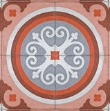 Ancient square paving tile Royalty Free Stock Photography
