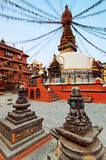 Ancient square, shrines and stupa Royalty Free Stock Image