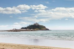 Ancient St Michael`s Mount castle Cornwall UK Stock Images