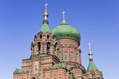 The Ancient St. Sophia Church in Harbin, largest Eastern Orthodox Church in Far East. Stock Images