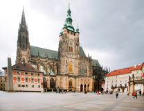 Ancient St. Vitus, St. Wenceslas and St. Adalbert Cathedral Stock Photography