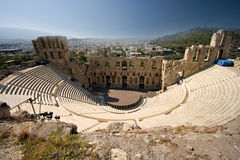 Ancient Stadium in Acropolis. Athens, Greece Royalty Free Stock Photo