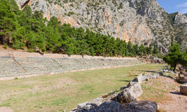 Ancient stadium of Delphi, Greece royalty free stock image