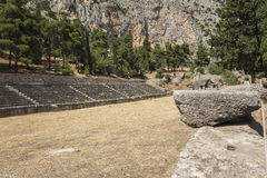 Ancient stadium at Delphi in Greece Royalty Free Stock Photo