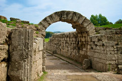 Ancient stadium entrance, Olympia Stock Photos