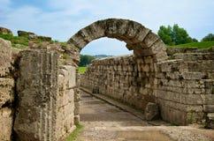 Ancient stadium entrance, Olympia stock photos