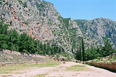 Ancient stadium in Greece Stock Photos