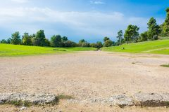 Ancient stadium grounds. Royalty Free Stock Photos