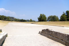 Ancient stadium in Olympia for Olympic Games Stock Image