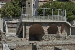 The ancient stadium Philipopolis in Plovdiv, Bulgaria. Royalty Free Stock Images