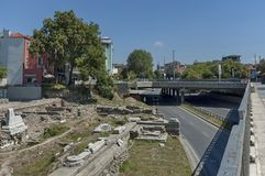 The ancient stadium Philipopolis in Plovdiv, Bulgaria. Stock Photography