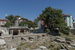 The ancient stadium Philipopolis in Plovdiv, Bulgaria. Royalty Free Stock Photography