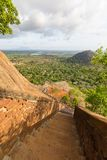 Ancient staircase in Sigiriya, Sri Lanka Royalty Free Stock Image