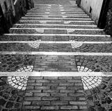 Ancient staircase Stock Image