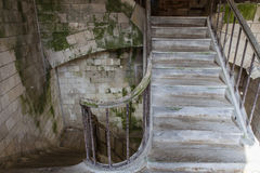 Ancient stairs inside an old French fortress - France Stock Photography