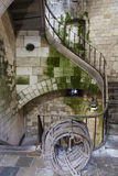 Ancient stairs inside an old French fortress - France Stock Images