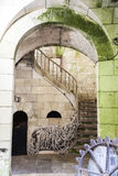 Ancient stairs inside an old French fortress - France Stock Photos