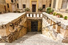 Ancient stairs in Rabat (Victoria) Royalty Free Stock Photos