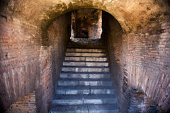 Ancient Stairway. Stairs that are the entryway to an old brick tunnel Royalty Free Stock Image