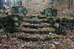 Ancient Stairway made out of Rock Royalty Free Stock Image