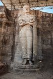 Ancient standing Buddha image Royalty Free Stock Image