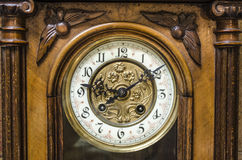 Ancient Standing Grandfather Wooden Clock Royalty Free Stock Photography
