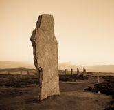 Ancient Standing Stone stock images