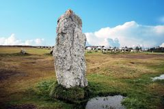 Ancient standing stones in europe royalty free stock image