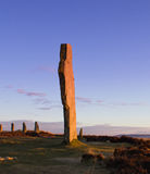 Ancient standing stones. Ring Of Brodgar, Orkney. World Heritage Site Stock Photography