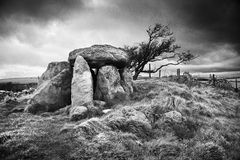Ancient standing stones under brooding skies. Royalty Free Stock Photography
